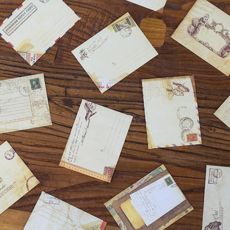 120pcs Vintage Kraft Paper Envelope Cute Mini Envelopes Vintage European Style For Card Scrapbooking Gift