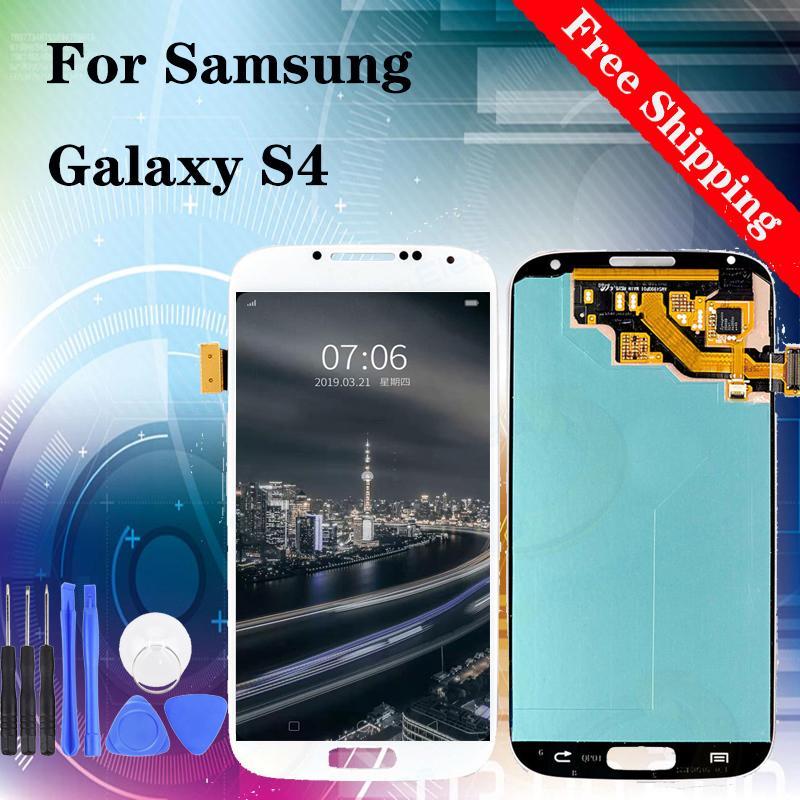 TFT brilho ajustável Para Samsung Galaxy S4 LCD i9500 I337 M919 I545 I9502 I9505 E300K display Touch Screen digitalizador frete grátis