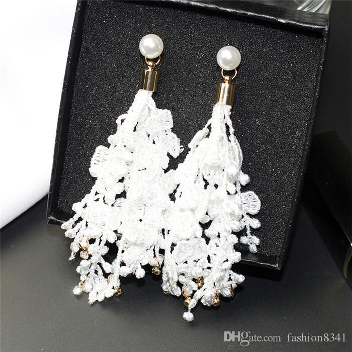 S925 argento ago set orecchini di diamanti esagerato anello orecchini Temperamento stile lungo CG lettere gioielli femminile produttori all'ingrosso