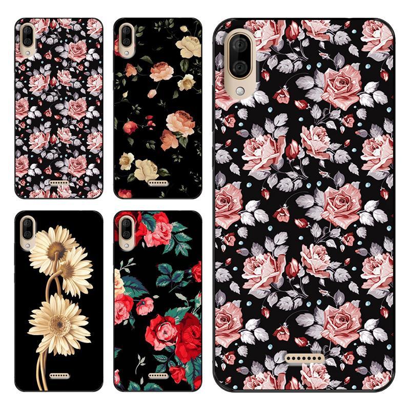 Flor del teléfono cubierta suave del caso de TPU para Wiko Y50 Y60 Y70 Y80 View3 Lite Funda, venta caliente