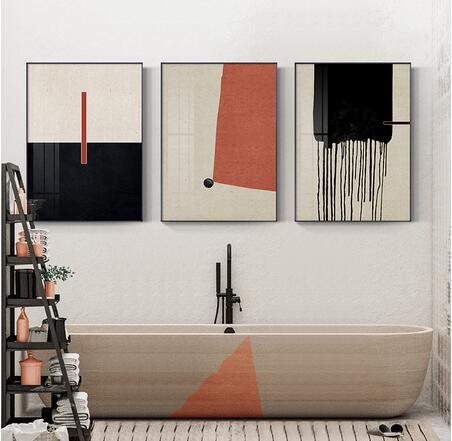 Abstract Colour marks and Minimalist style For Living art wall decoration hot sale popular poster 6