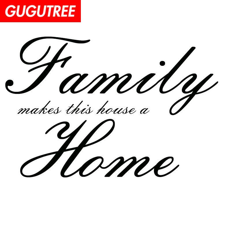 Decorate Home proverbs character letter art wall sticker decoration Decals mural painting Removable Decor Wallpaper G-1395