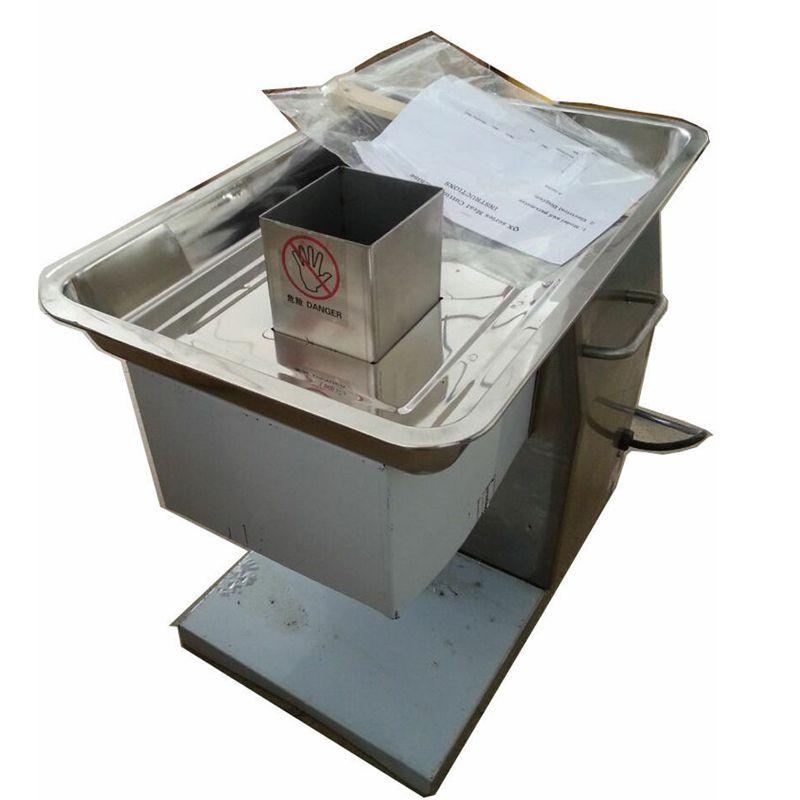 110 فولت 60 هرتز usa qx الجدول الأعلى المحمولة الكهربائية قطع اللحم آلة جزار آلة قطع اللحوم للمنزل الفولاذ المقاوم للصدأ 250KG / ساعة