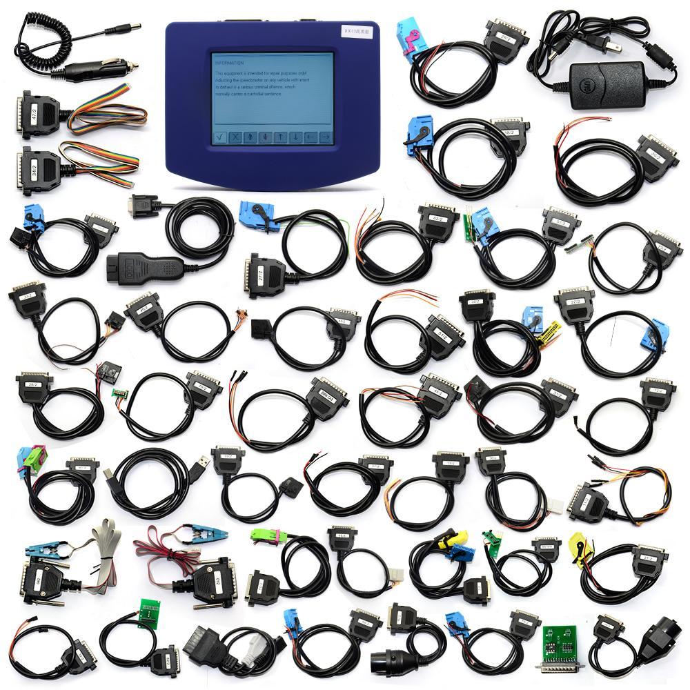 대부분의 자동차에 대 한 강력한 FTDI FT232BL 93C46 칩 V4.94 주행 거리계 프로그래머 DigiprogIII 마일리지 보정 도구를 사용하여 Digiprog3 전체 세트