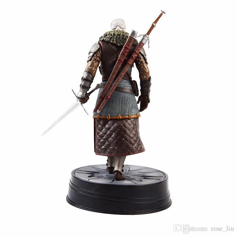 Figurine The Witcher 3 Wild Hunt Statuette Geralt Grandmaster Feline 20 cm