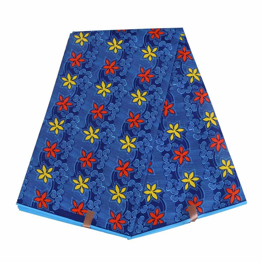 2019 Анкара Африканский полиэстер воск печатает ткань Binta реальный воск высокое качество 6 ярдов / кусок африканской ткани для платья партии FP6001