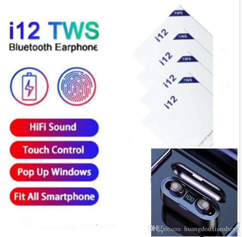 I12 TWS технологии Bluetooth: 5.0 беспроводные наушники Поддержка Bluetooth наушники красочное сенсорное управление беспроводной гарнитуры наушники горячей продажи
