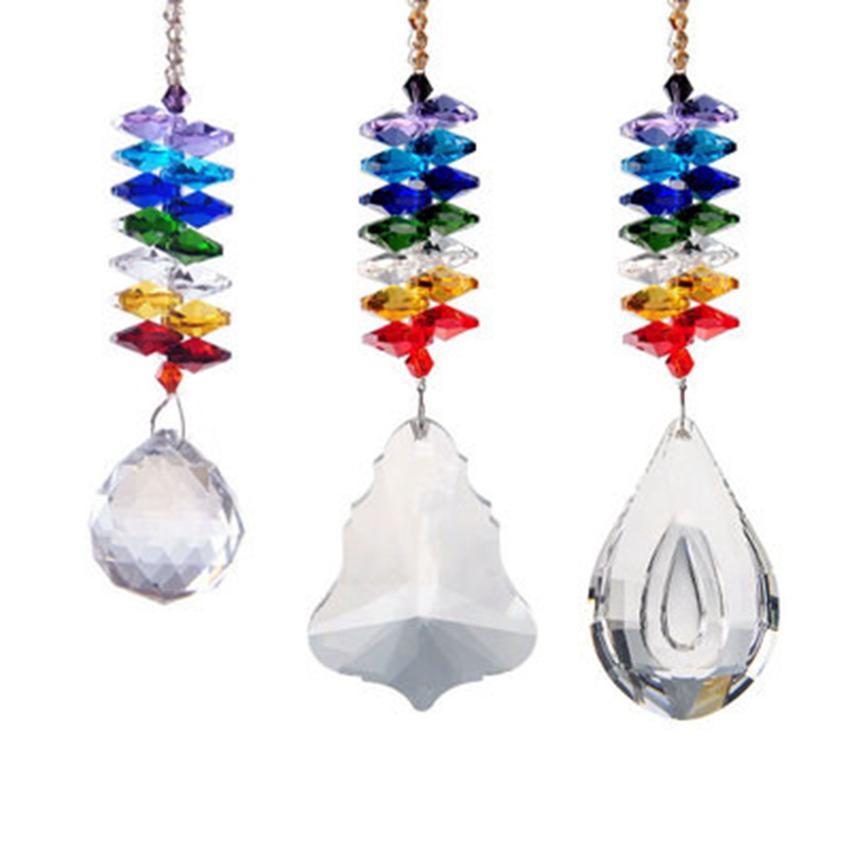 DIY lámpara de cristal de decoración del hogar y de coches Decoración colgante colgante ornamento ornamentos ECO amistoso 3 colgante estilo ZZA1206