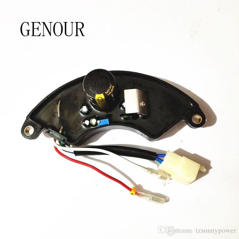 Jeneratör AVR için 7kw Lihua AVR 6 Wires Tek Fazlı, 5-6KW Üç Fazlı Otomatik Gerilim Regülatörü 400 V 470UF TT15-4