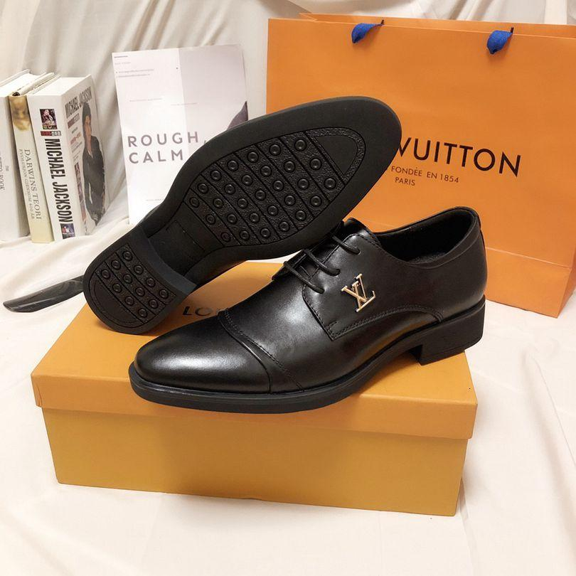 mens leather dress oxfords italian real cow formal tuxedo shoes rubber outsole lace up gents 110601
