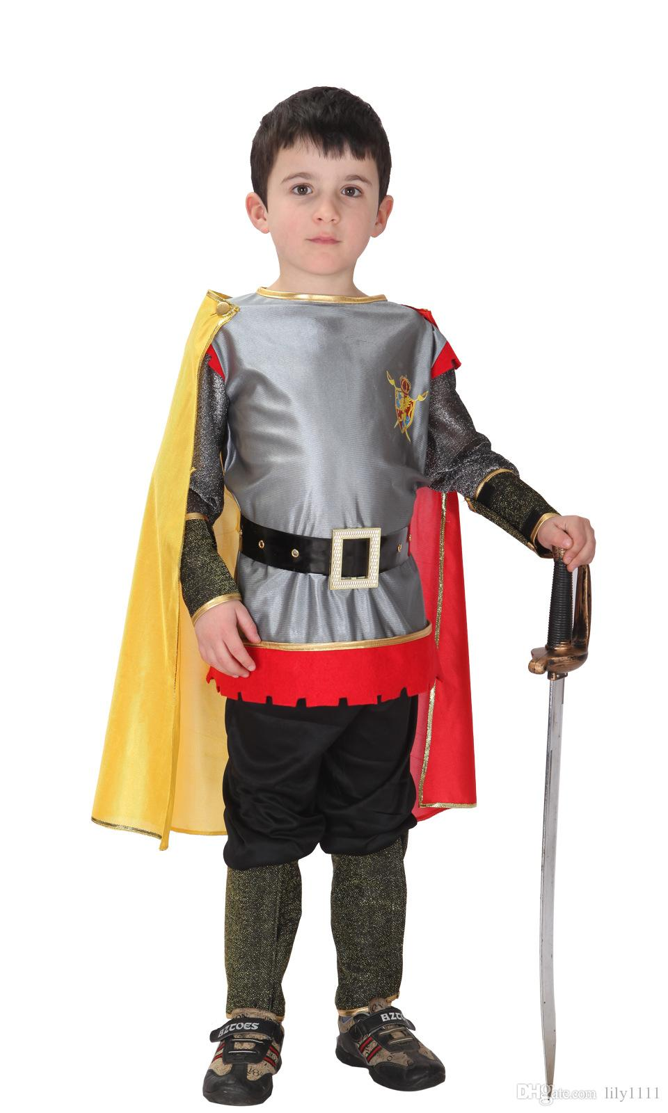 Shanghai Story Roman Prince Masquerade Disfraces Halloween Costumes for Kids Children Cosplay Costumes King of Roman Carnival Costume