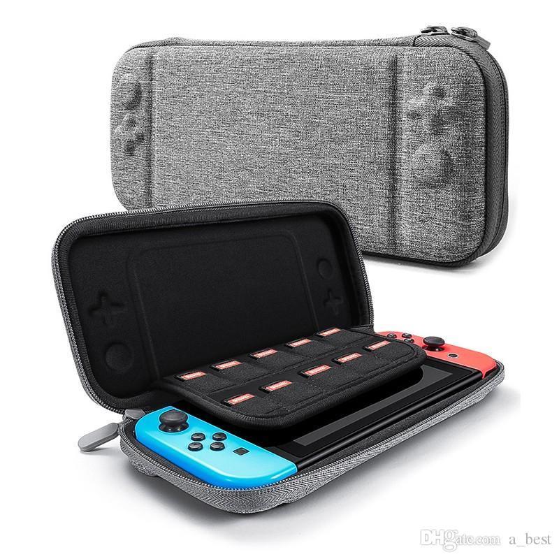 Pour Nintendo Console Switch Game Card Case durable de stockage NS Sacs Malettes rigide en EVA coquilles Sac portable Sac de transport pochette de protection