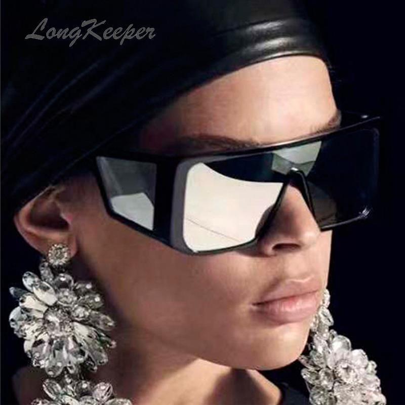 Brand Fashion Black Steampunk Sunglasses Men Oversize Driving Cool Sun Glasses Square Male Oculos Gafas Eyewear 6935