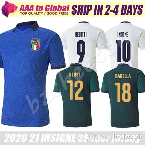 2020 2021 Италия футбол Джерси 20 21 ИНСИГНЕ Кьеллини Ренессанс Бонуччи Бернардески Белотти Сенси Барелла футбольные рубашки бесплатная доставка