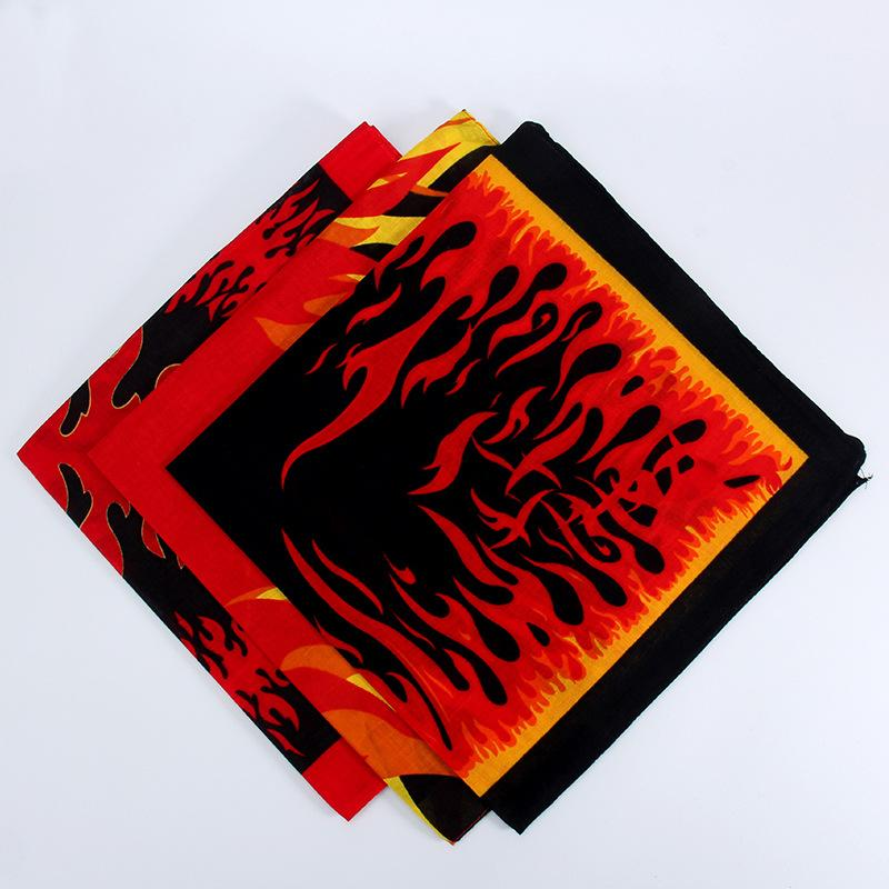× la página de la Scarf Sports Turban Square Serie 55 Flame Handkerchief Street 55 cm Algodón CPNNT