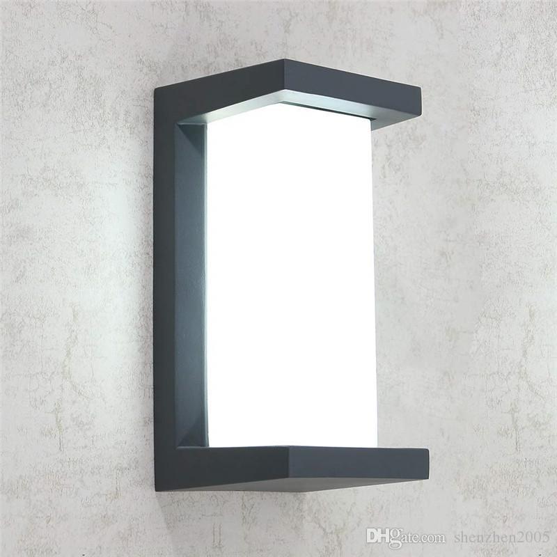 Outdoor Wall Porche Lumières Led Appliques IP65 Lampes Fixture 3 vitesses Dimmable Applique murale Blanc Chaud Froid Blanc Nature Blanc