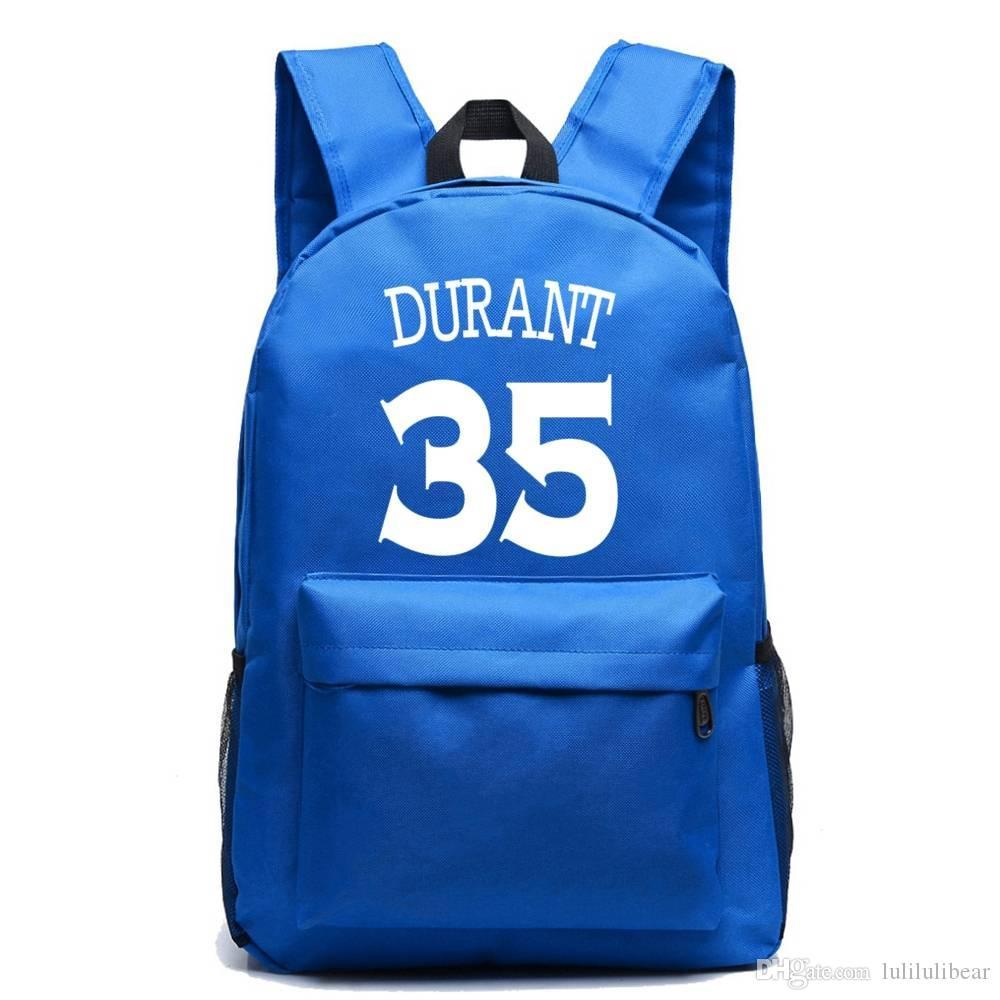 كيفن ديورانت قماش ظهره عالية الجودة بوي فتاة كبيرة الحقائب المدرسية للمراهقين السفر محمول حقيبة mochila اجتماعيون