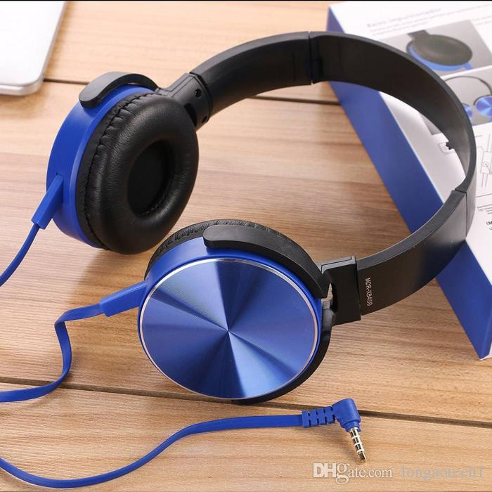 2019 hot sale Over ear foldable headphone wiredColorful Noise Cancelling Stereo headset headphone factory with Wired Custom Logo
