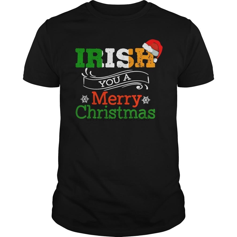 Hombres camiseta irlandesa Feliz Navidad camiseta camiseta fresca camiseta impresa de tes superior