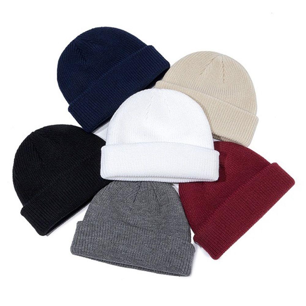Erkekler Kadınlar Kış Şapka Aksesuarlar Bayanlar Kısa İzle Skullies İçin Katı kasketleri Örme Beenie Şapka takke Buz Noel Sonbahar Caps Isınma