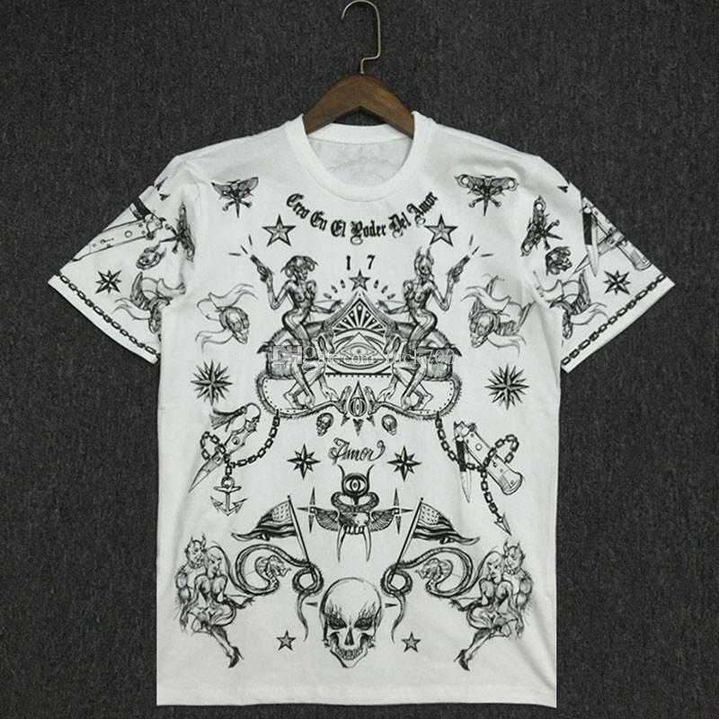 19SS de lujo para hombre diseñador de la camiseta de algodón para hombre Pareja de manga corta Imprimir Tees ocasionales 2 colores del tamaño S-2XL