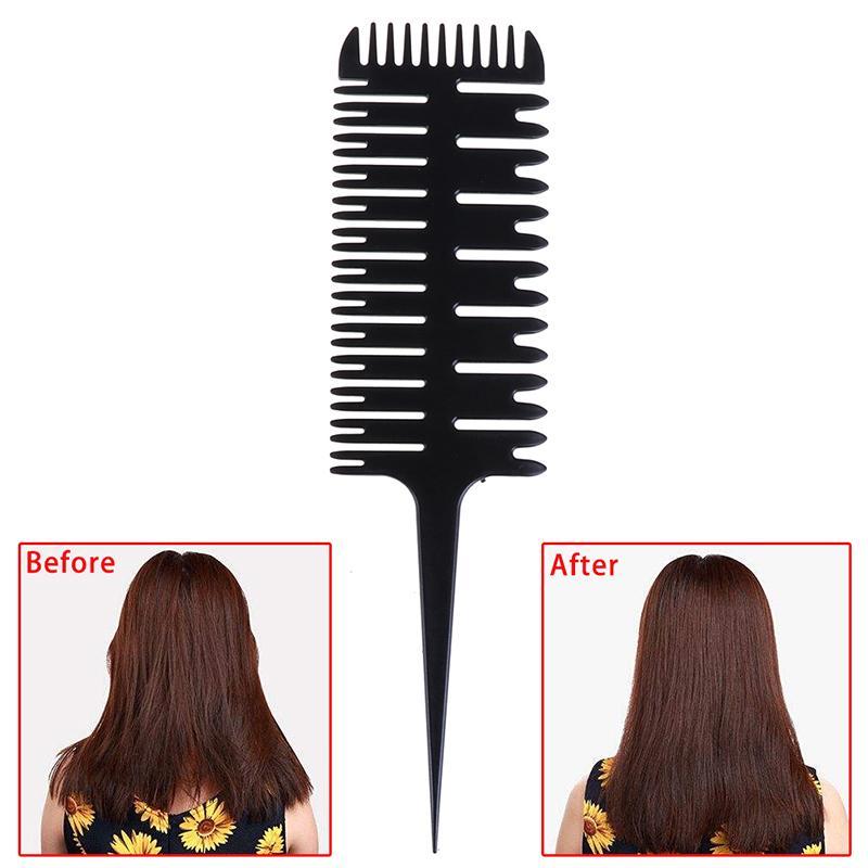 Beauté Santé Big Tooth cheveux Dyeing outil Mise en évidence Peigne Salon Brosse Pro poisson Conception os Peigne Dyeing Sectionnement