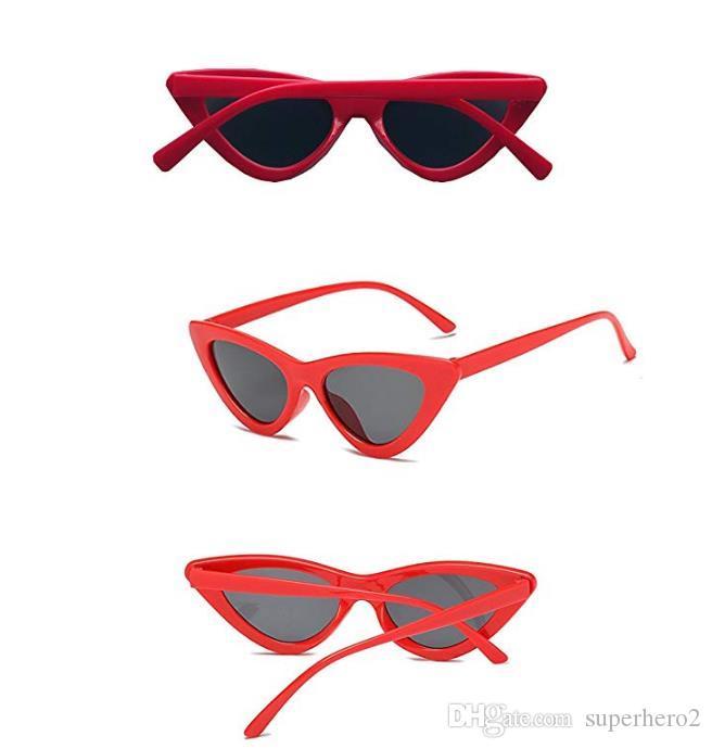 Старинные Кошачий глаз Солнцезащитные очки Мода дети очки солнцезащитный крем для детей девочек мальчиков очки Очки пластиковая рамка УФ-защита