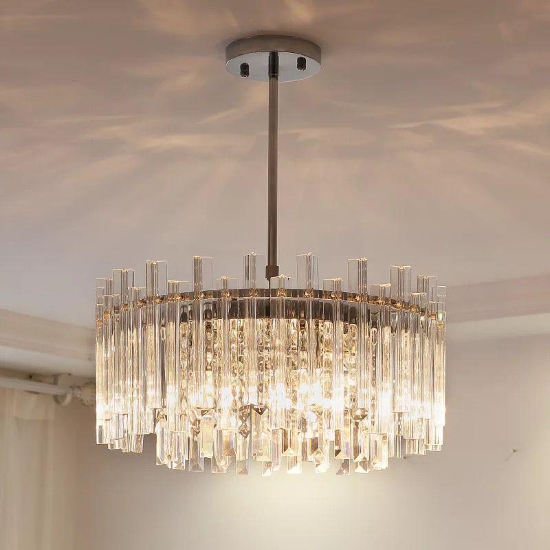 الحديثة الفاخرة الصمام الثريا عالية الجودة واضحة أضواء عاكس الضوء كريستال لغرفة الطعام الإضاءة الثريات تركيبات السقف