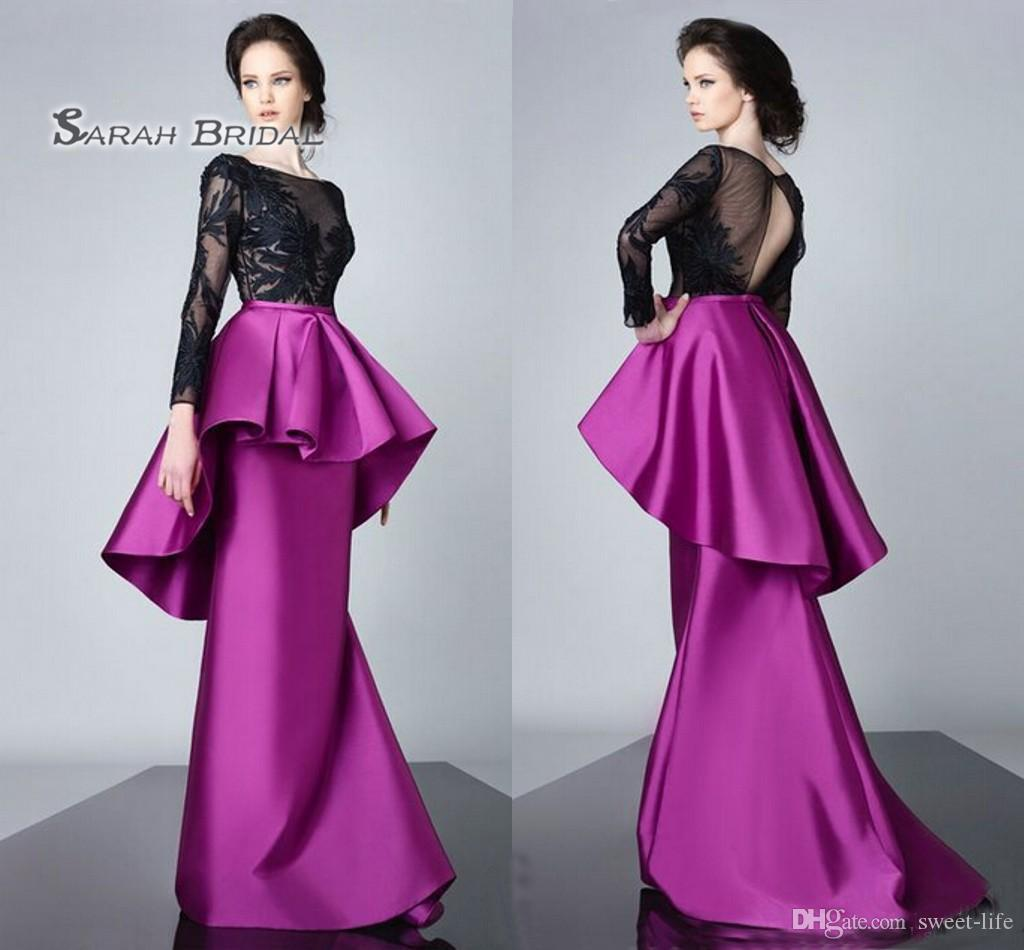 2020 Sexy Prom Dress Formal Party Maxi Gown Mermaid Evening Wear Sheer Bodice Plus Size Satin Tiered Skirt Saudi Arabia Style