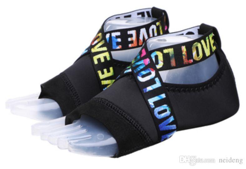 Sıcak Satış- Beş Parmaklar Nefes Hava Yoga Çorap Profesyonel Fitness Egzersiz Dans Ciltleme Yumuşak Alt Silikon Kaymaz Yoga Ayakkabı
