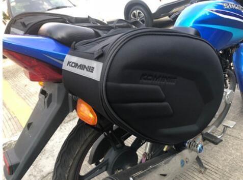 코 미네 오토바이 안장 가방 승마 테일 가방 방수 커버 멀티 스트랩 고정 측 가방을 매달려 보내기 위해 헬멧을 넣을 수 있습니다