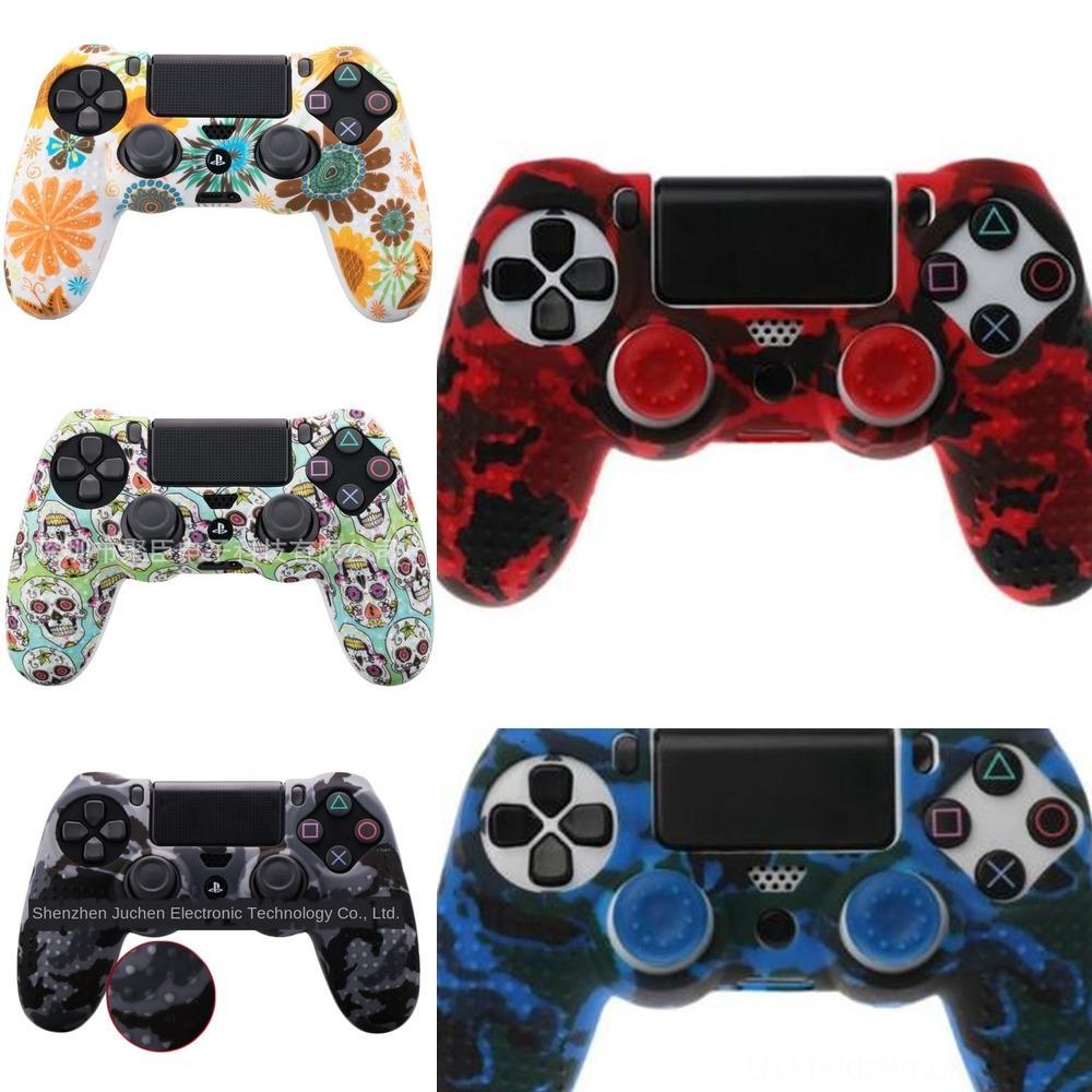 tx9jd Silikon Kauçuk Oyun Kılıf Jel Cilt Kapak PlayStation Sony 4 PS4 PS 4 Kontrolör Shell Joystick Cilt Konut Yumuşak Aksesuar
