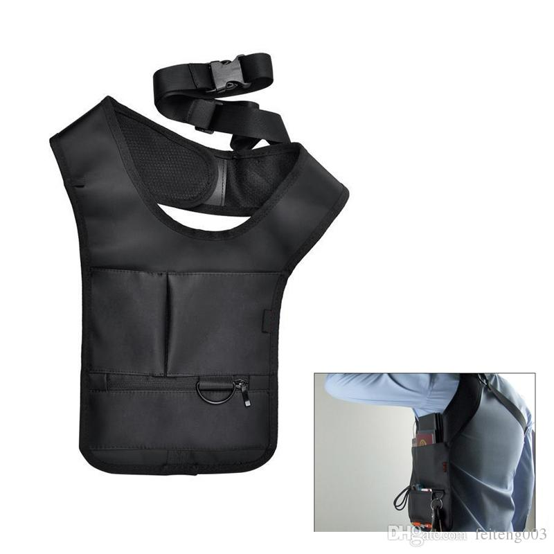 Multi-functional Underarm Holster Anti-Theft Single Shoulder Bag Hidden Card Wallet Cell Phone Sport Motorcycle Cycling Pouch #696716