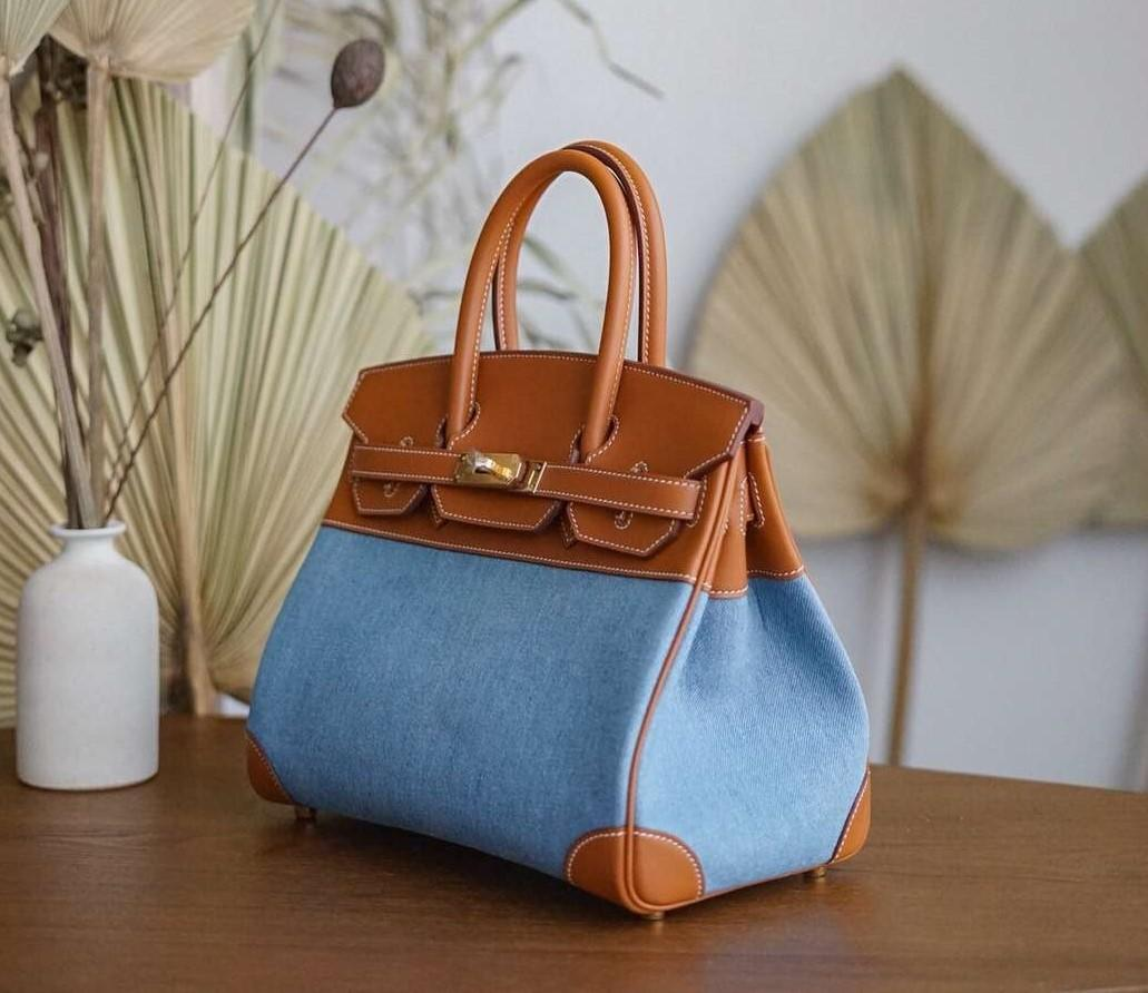 best quality orginal 30cm blue brikin bag,handmade,wax thread,many colors with different size on website or instagram