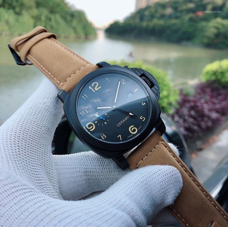Männer Uhren P9000 Automatische Bewegung 44mm Mechanische Uhr für Männer Art und Weise Geschenk PAM014411