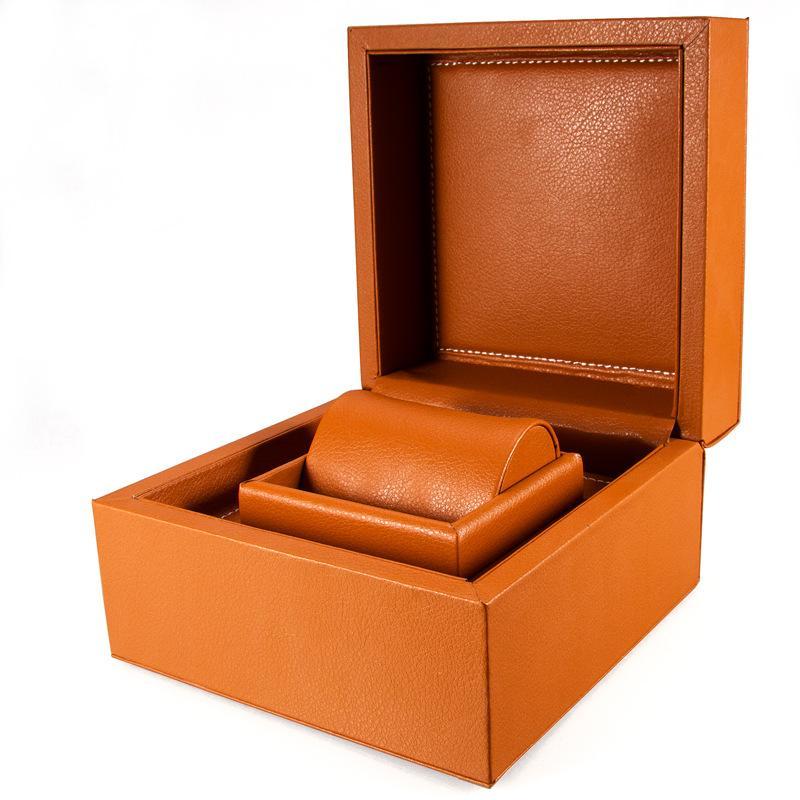 Nouveau mode haut de gamme des montres boîte de montre boîte en cuir décorée main tache spot boîte de rangement PU bijoux en gros