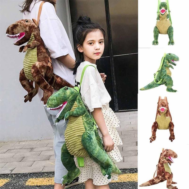 Children Boys Girls 3D Dinosaur Backpack Travel Bag Rucksack Satchel School Bag