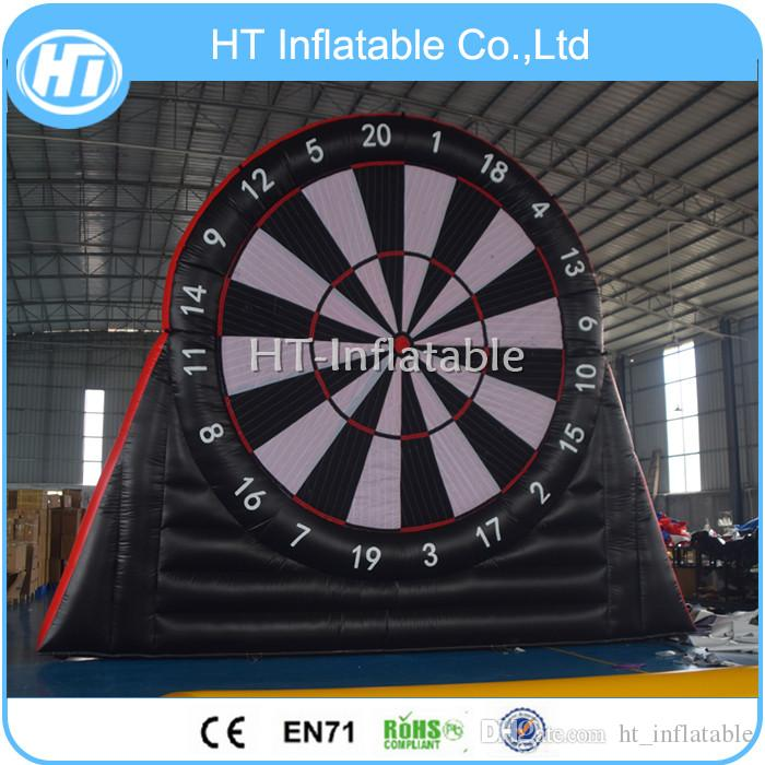 Free Shipping 2019 Most Popular Inflatable Football Dart Game, 4m Height Inflatable Kick Dart for Outdoor Game