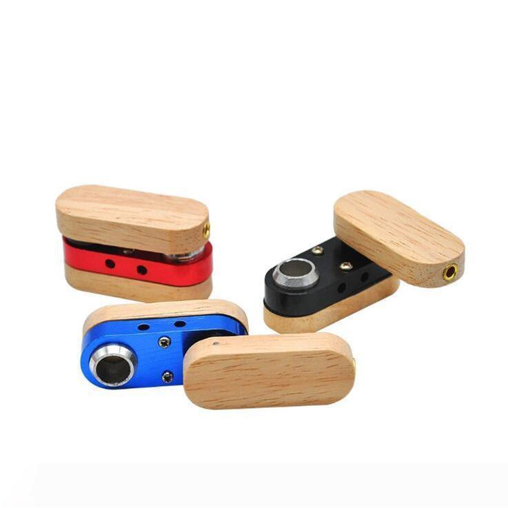 Folding Wooden Pipe Hand Portable Foldable Smoking Pipes Double layer multicolor Pipe Outdoor small Smoking Accessories LXL783-1
