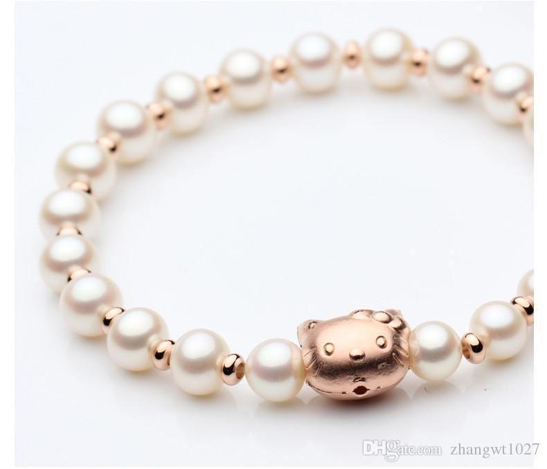 Bisuter/ía Hello Kitty perla rojo plata 925