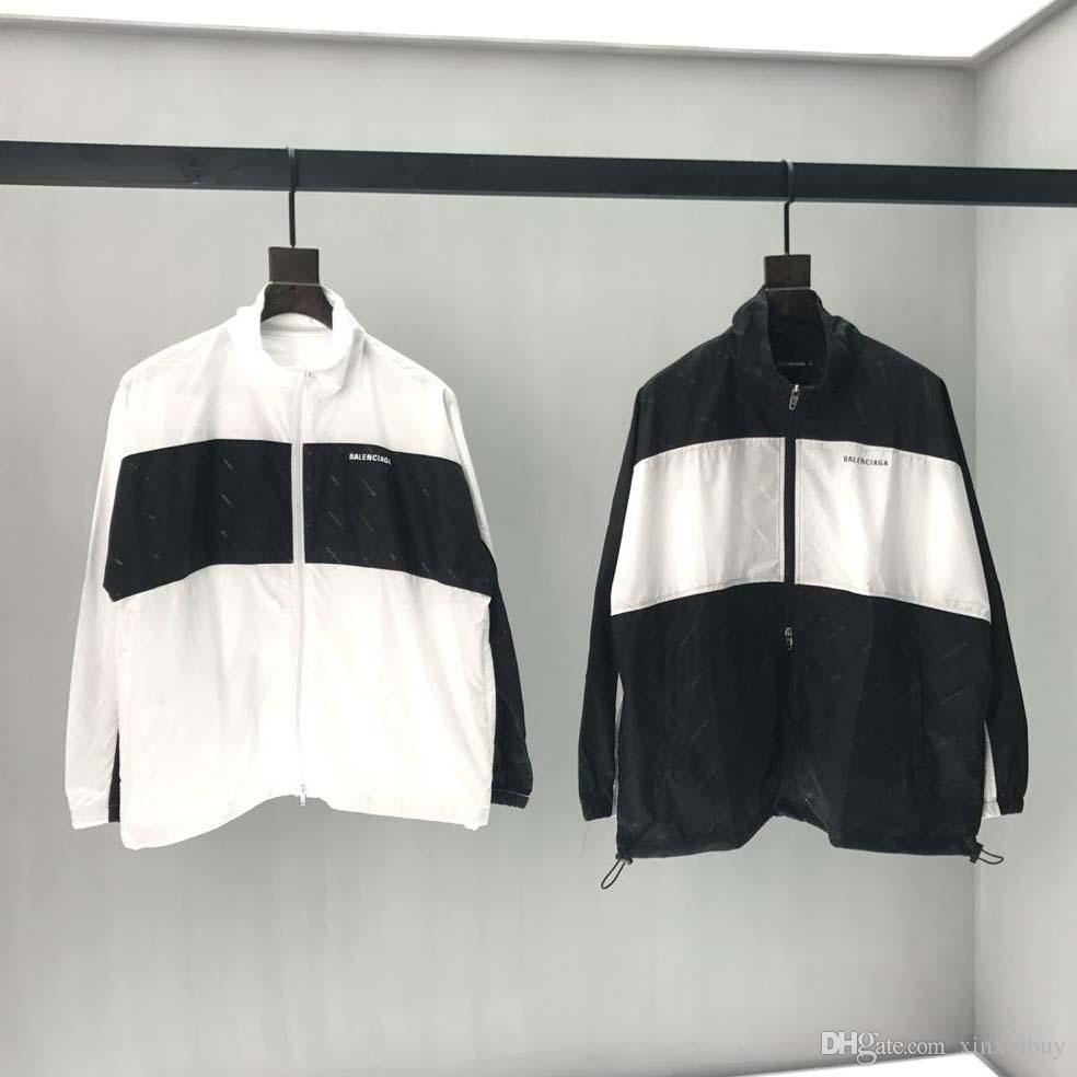 Großhandel 19ss Mens Designer Jacken Luxus Paris Regentropfen Druck Herren Kleidung Pullover Langarm Frauen Jacke Männer Frauen Top Qualität Tag Neu