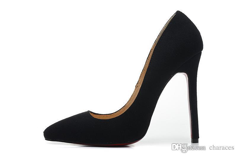 Tacchi alti delle donne di nuovo arrivo 10-12cm tacchi alti micro punta a punta pompe di moda, signore di lusso rosso fondo vestito da festa nuziale scarpe taglia 3