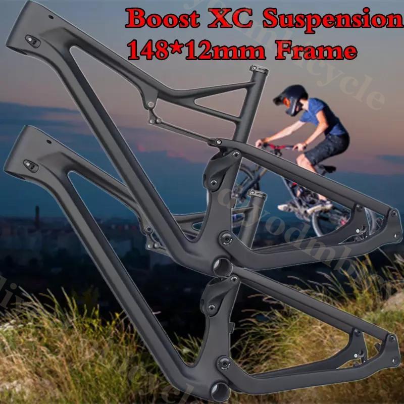 Suspension 27.5er Carbon-Mtb-Frame Bike Disc-Brake Mountain-Bicycle BB92 Boost Full-Suspension 29er Cross Country Mountain Bicycle Frame