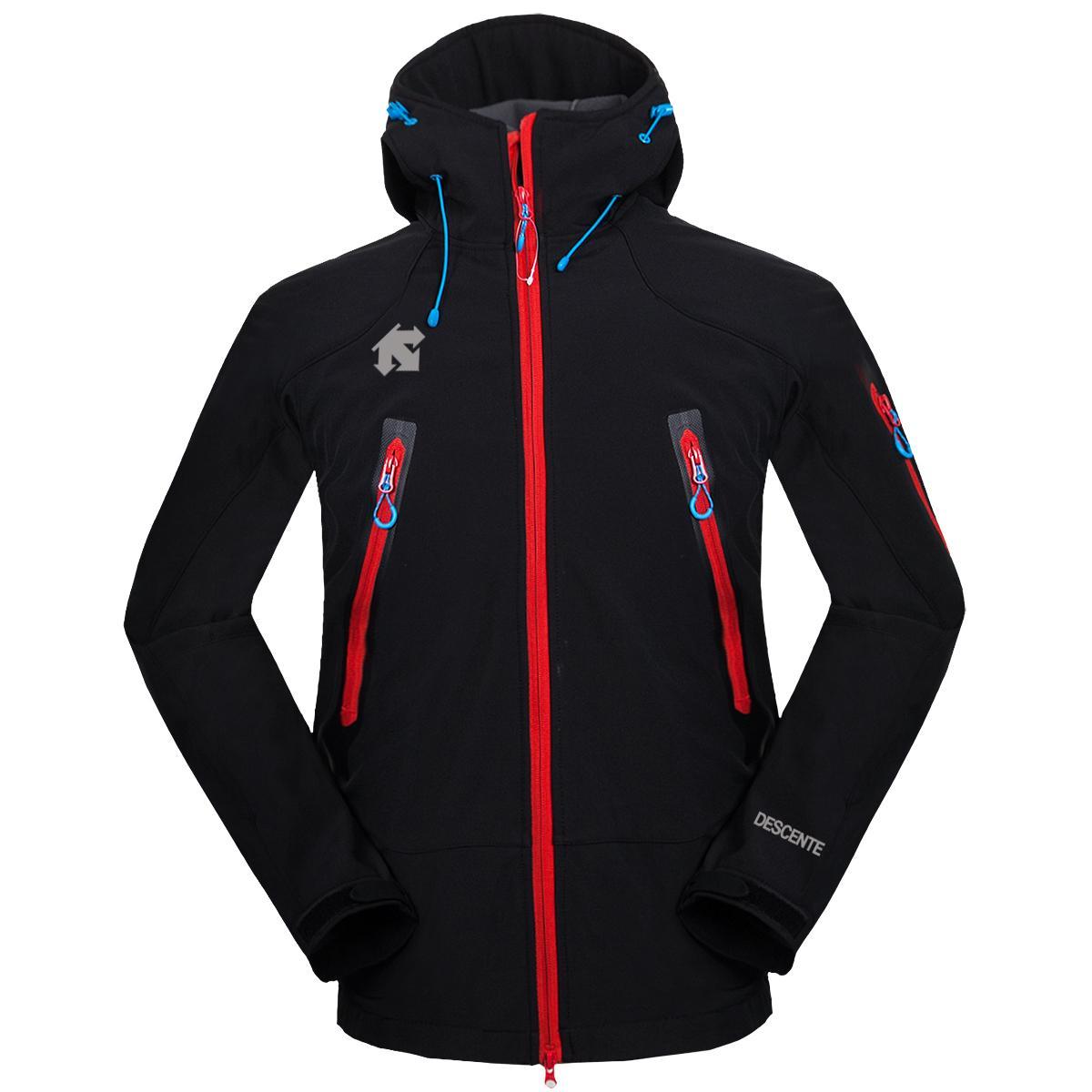 The Men Descent Softshell giacca giacca cappotto viso uomini all'aperto sportivi cappotti da uomo Sci escursionismo antivento Inverno outwear Soft Shell Giacca