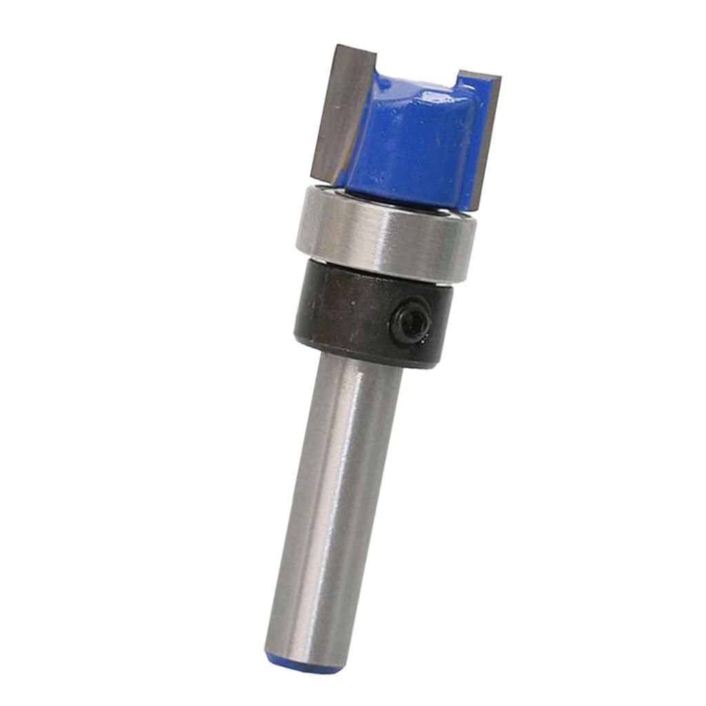 12.7x38mm 1//4/'/' Shank Top Bearing Flush Trim Router Bit Woodworking Cutter
