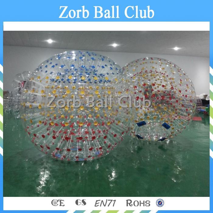 شحن مجاني 2.5M القطر نفخ الهامستر الإنسان الزجاج الرول Zorb الكرة لتعلية Zorbing للبيع