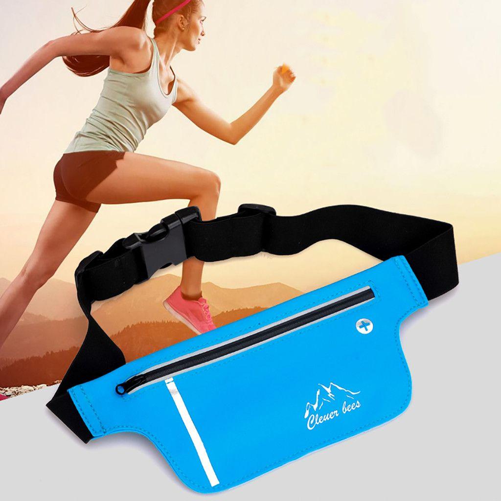 Frauen Mini Gürteltasche Nylon-Telefontasten Packs Sport Laufsport Mini Schulter Hüfttasche Unisex Zipper Gürtel Brusttaschen beiläufige Taschen