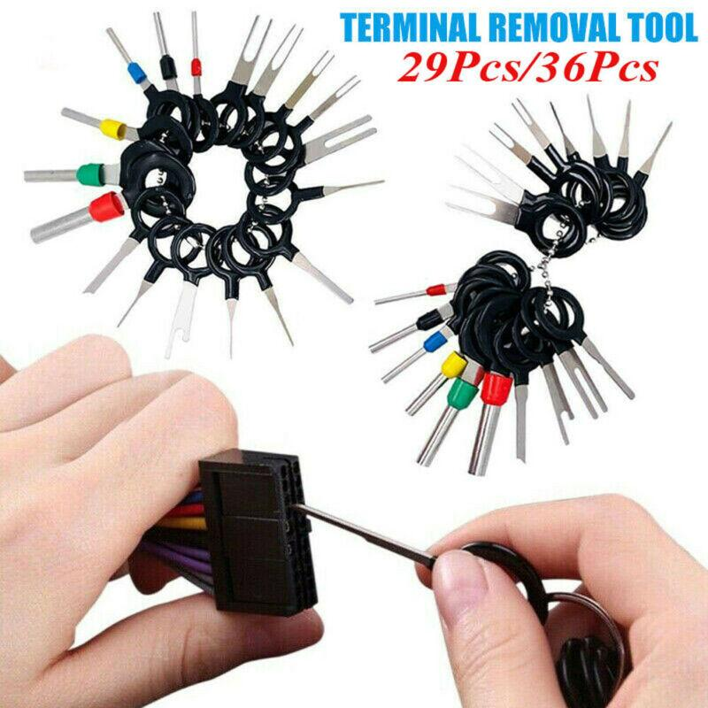 36 Autodrahtklemme Entfernen Electrical Wiring Crimp Leitungs Steckverbinder Extractor Freigabe Pin Automobil Terminal-Reparatur-Werkzeuge