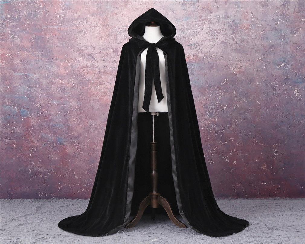2020 Costume New Cloak Cheap Halloween elegante casamento nupcial envoltório de veludo capa com capuz com revestimentos de casamento capô