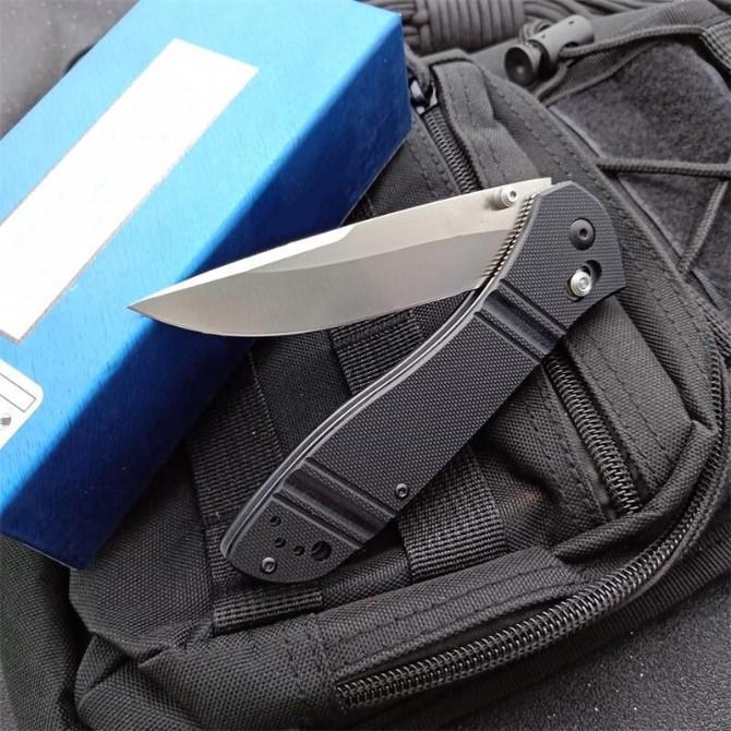 New butterfly Bench made butterfly 710 (D2) 59-60HRC Open Folding knives Nylon Glass Fiber Handle Camping Pocket EDC knife